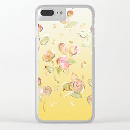 yellow tea rose buds Clear iPhone Case