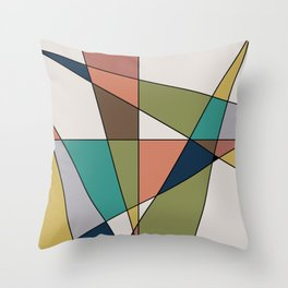 Mid Century Modern Triangle Abstract Throw Pillow