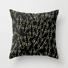 Lizard glitter Throw Pillow