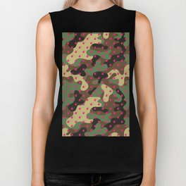 CAMO & HOT PINK BOMB DIGGITYS ALL OVER LARGE Biker Tank