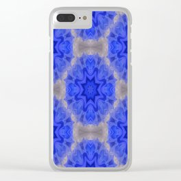 Blue lace love..... Clear iPhone Case