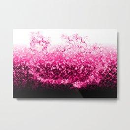 Pink Water Splash Metal Print
