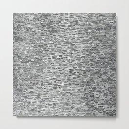 Gray Lake Raindrops Metal Print