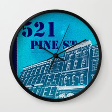 Pine St Wall Clock