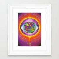 all seeing eye Framed Art Prints featuring All Seeing Eye by Jedidiah Morley