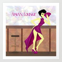asian Art Prints featuring Asian Lounge by Alex Moreno