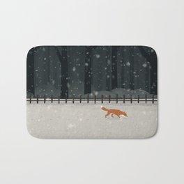 Fox in the woods Bath Mat