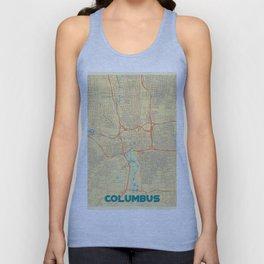 Columbus Map Retro Unisex Tank Top