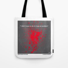 No067 My Pulp Fiction minimal movie poster Tote Bag