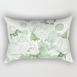 Bouquet Of Pastel Green Roses Rectangular Pillow