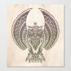 Silent Flight (Owl Wings) Canvas Print