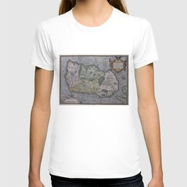 Vintage Map of Ireland (1592) T-shirt
