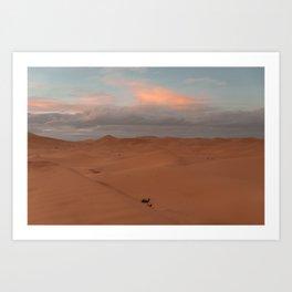 Desert Sunset II - Sahara, Morocco Art Print