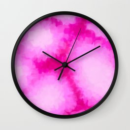 Glowing Pink Floral Abstract Wall Clock
