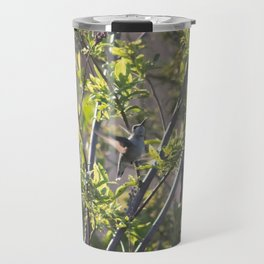Hummingbird in the Bushes Travel Mug
