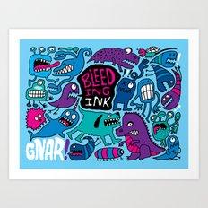 More Monsters Art Print