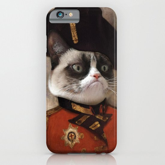 Angry cat. Grumpy General Cat.  iPhone & iPod Case