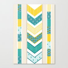 Sunshine Chevron Canvas Print