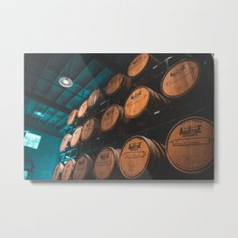 Whisky Barrels! Metal Print