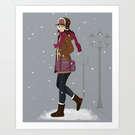 Still snowing Art Print