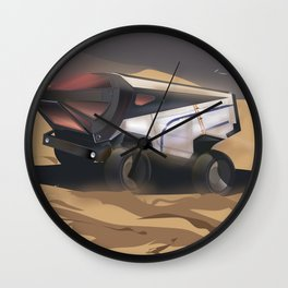 Mars, Enlist Today! Mars Rover travel poster Wall Clock