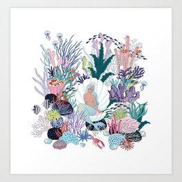 mermaids Kingdom Art Print