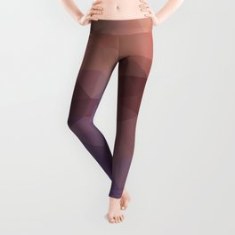Triangles design in purple and brown colors Leggings