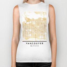 VANCOUVER CANADA CITY STREET MAP ART Biker Tank