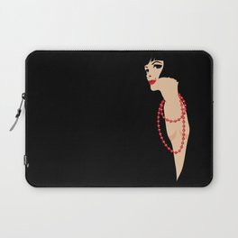 beautiful girl on a black backgroung Laptop Sleeve
