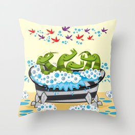 Crocodile Soup Throw Pillow