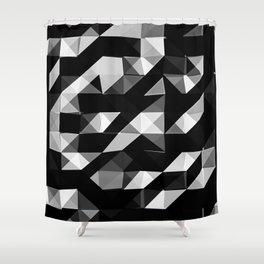 Triangular Deconstructionism v2.0 Shower Curtain