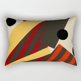 Abstract in Stripes and Dots Rectangular Pillow