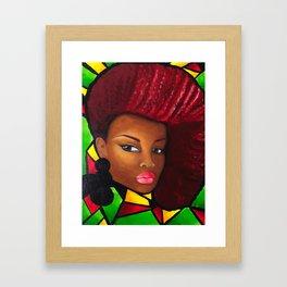 Grounded - Afro Natural Hair Art Framed Art Print