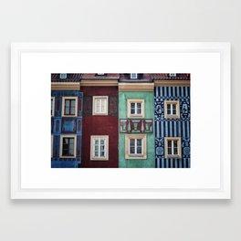 Details of Poznan Framed Art Print