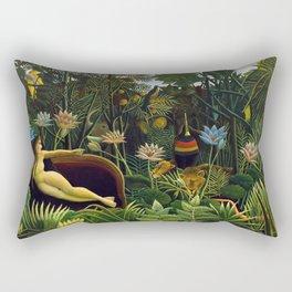 The Dream by Henri Rousseau (1910) Rectangular Pillow