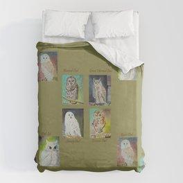 Six Owls Duvet Cover