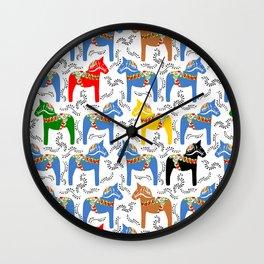 Dala Horse pattern Wall Clock