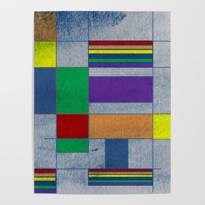 Mid-Century Modern Art - Rainbow Pride 1.0 Poster