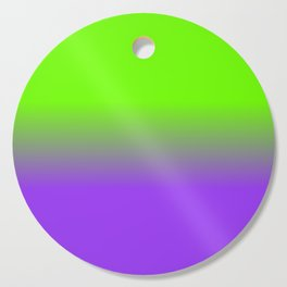 Neon Purple and Neon Green Ombré  Shade Color Fade Cutting Board