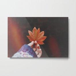 Leaves and Light Leaks Metal Print