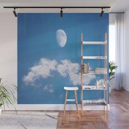 Daytime - Gibbous Moon Wall Mural