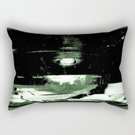 Digital Dissonance Green Rectangular Pillow