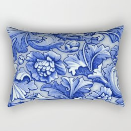 Blue and White Porcelain Rectangular Pillow
