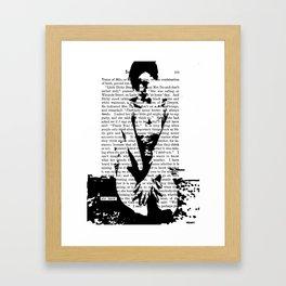 She Knew Framed Art Print
