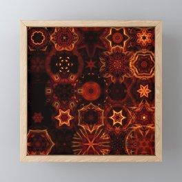 fire mandala pattern Framed Mini Art Print
