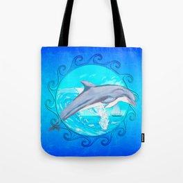 Dolphin Maori Sun Tote Bag