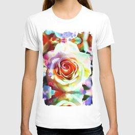 Colourful artistic Rose T-shirt