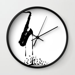 Melting Saxophone Silhouette Wall Clock