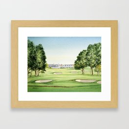 Southern Hills Golf Course 18th Hole Framed Art Print