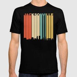 Vintage 1970's Style Jacksonville Florida Skyline T-shirt